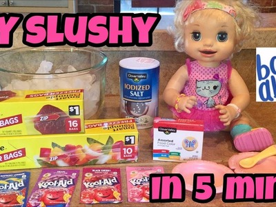 DIY Baby Alive SLUSHY SNACK how to make it step by step In 5 minutes