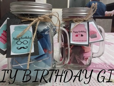 DIY birthday gift - Mason jar | How to decorate mason jar |