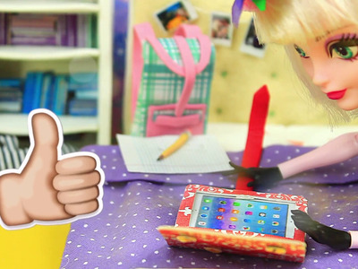 DIY DOLL IPAD and CASE for BARBIE, Ever after High dolls, Monster High,