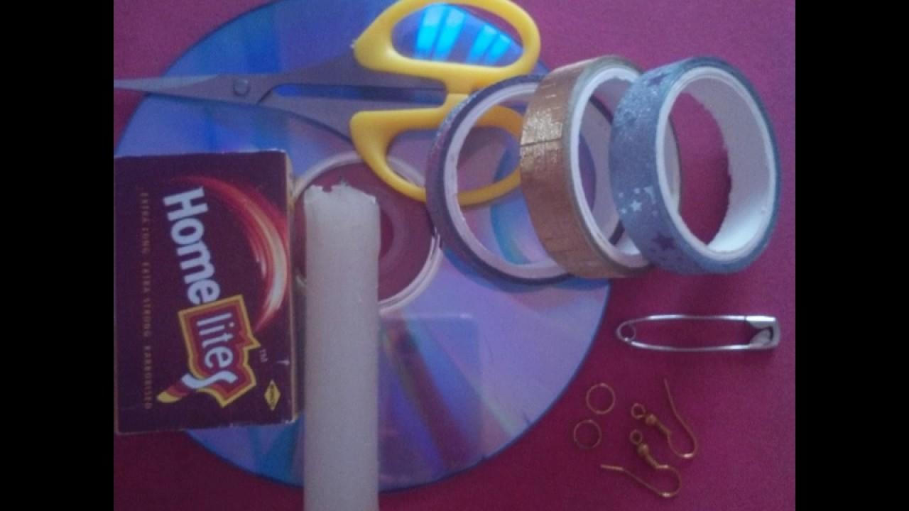DIY EARRINGS OUT OF CD#EASY#