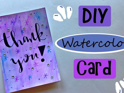 DIY Easy Watercolor Card Using Only Markers!