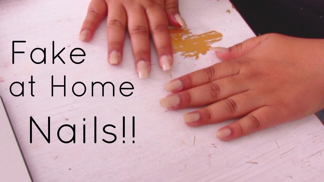 Diy Fake Nails At Home Vanessa Gutierrez