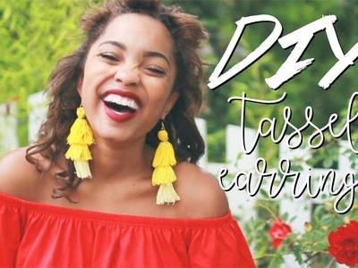 DIY FRINGE TASSEL EARRINGS || Summer Trends 2017