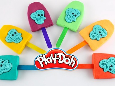 DIY How to Make Play Doh Sparkle Bee Popsicles Modelling Clay - Learn Colors For Kids