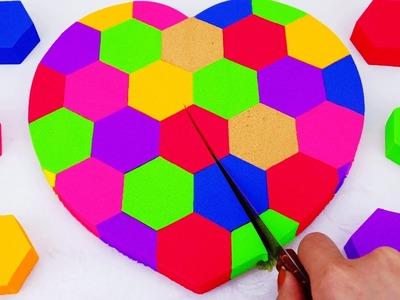 DIY Kinetic Sand Cake Heart, Spidermen, Elsa Disney MLP TMNT Superhero Learn Colors