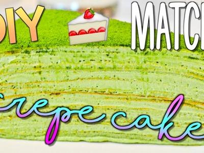 DIY Matcha Mille Crepe Cake! No Bake!   Ashlelayy