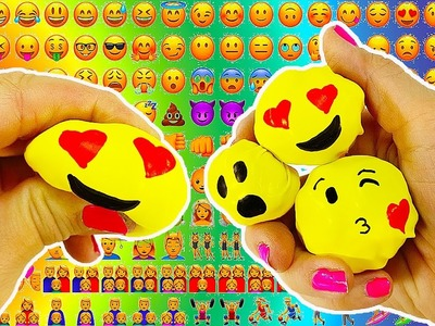 DIY: Miniature Emoji Stress Balls with CANDY INSIDE! EDIBLE! No Slime, No Cooking!