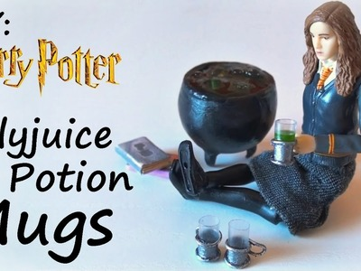 DIY: Miniature Harry Potter inspired Polyjuice Potion Mugs