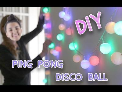 DIY PING PONG DISCO BALL!