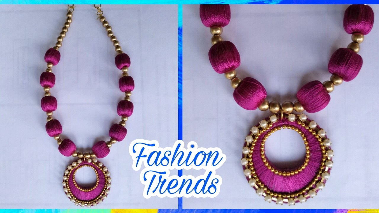 buy set product thread silk bangle necklace earring