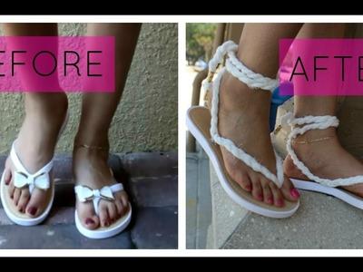 DIY Summer Sandals | using an infinity scarf + OOTD