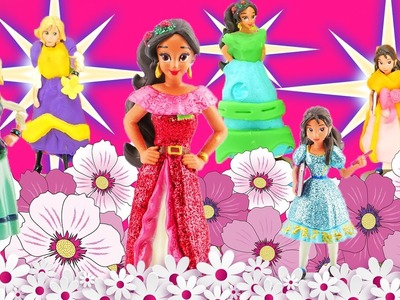 Elena of Avalor DIY Play-Doh Dresses! Learn Colors with Disney Princess Elena Isabel & Naomi Dolls!