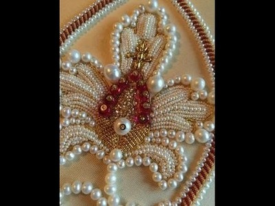 Gold Threads and Pearl Embroidery Sewing