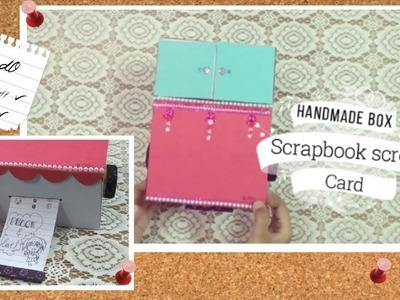 Handmade Scroll Box Card