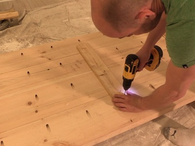 """HOW TO: Build a DIY office desk using Lowe's """"Natural Live Edge Slabs"""""""