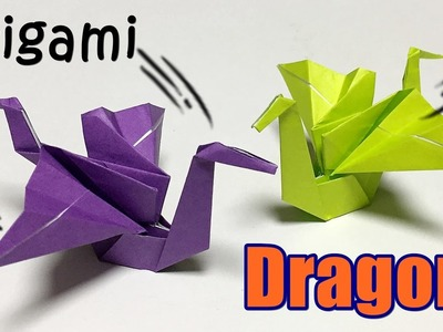 How to make a cool paper dragon | Origami dragon tutorial easy with one piece of paper