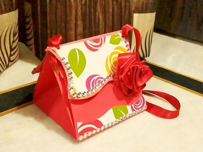 How to make birthday cards for mother \ friends [explosion bag] and gift tutorial|handmade purse