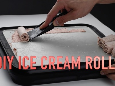 How To Make DIY Red Velvet Ice Cream Rolls At Home - The Ice Plate
