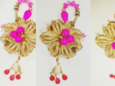 HOW TO MAKE LATKAN.TASSELS USING EARRINGS FOR INDIAN OUTFIT| DIY |