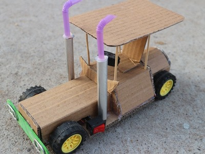 How To Make Powered JEEP Car Using DC Motor - Electric JEEP DIY Toy | JEEP Toy For Kids