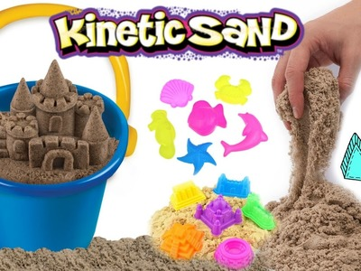KINETIC BEACH SAND!! How To Make Kinetic Sand Sculptures | DIY Kinetic Sand Castle Kids Toy!!
