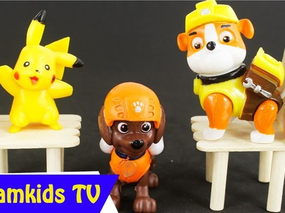 Make a Chair with Ice-cream Stick - Learn Handmade Play pokemon toys - Creative with Ice cream stick