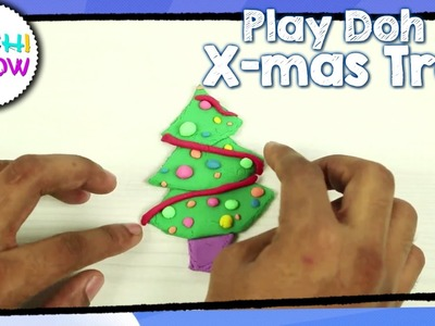 Making Christmas tree with Play Doh for Children |Creative Clay videos for Kids| Litchi Show