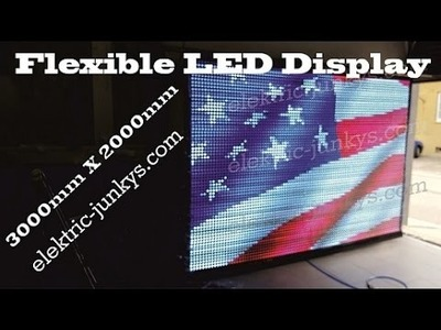 Massive Flexible LED Screen DIY how to T300K Live Controller WS2812b WS2801 LED Curved Screen
