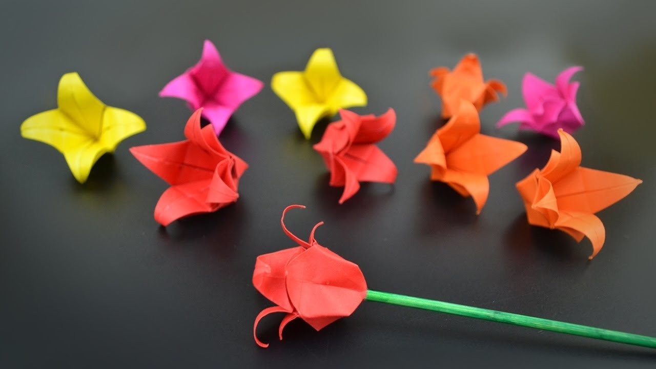 origami flower tulip instructions in english br my