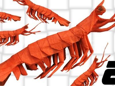 Origami Shrimp.King Prawn Tutorial (Yagob) Part 2.2 - Collapsing & Shaping