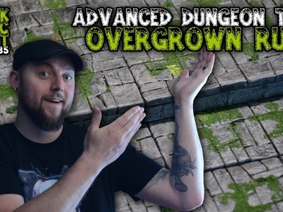 Overgrown Ruins - Advanced Dungeon Tiles For D&D Tutorial (Black Magic Craft Episode 035)