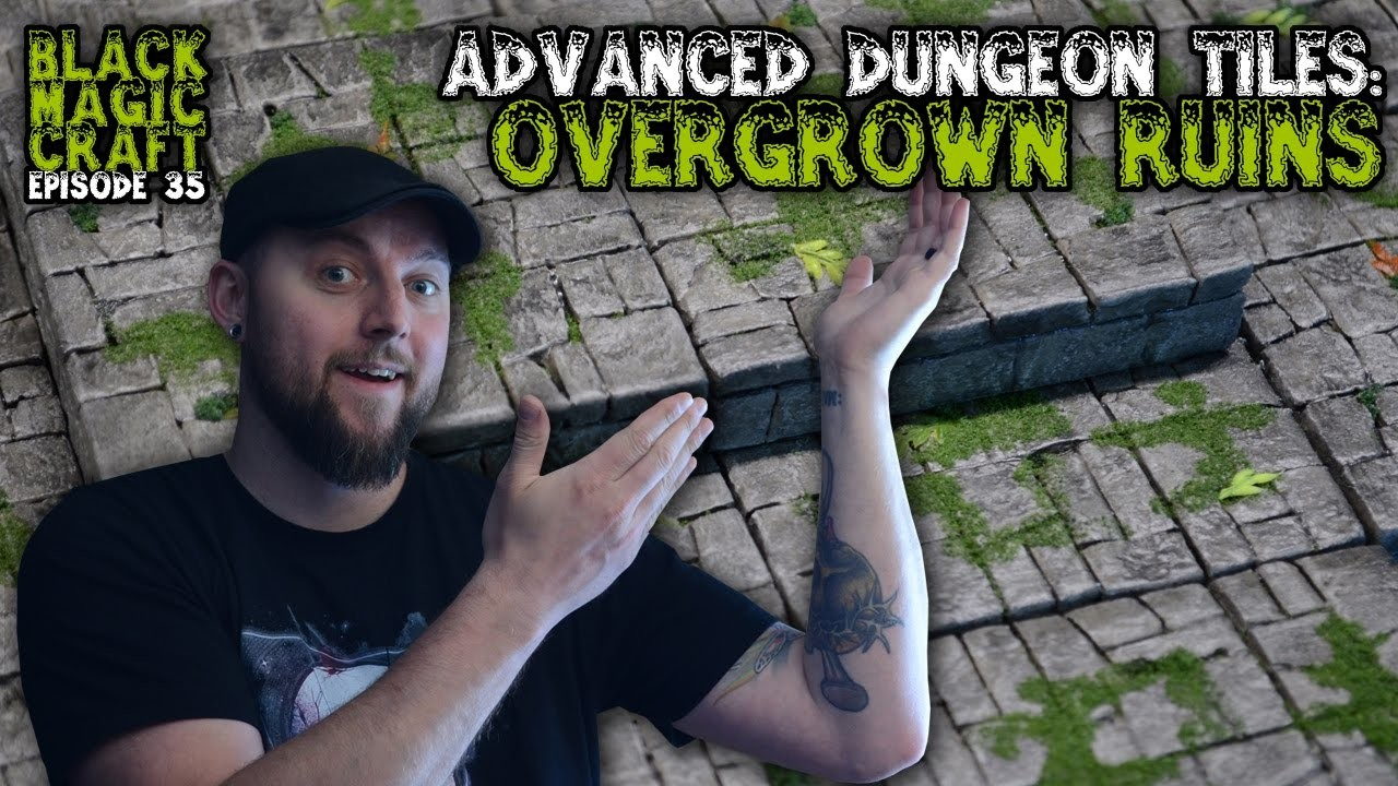Overgrown Ruins - Advanced Dungeon Tiles For D&D Tutorial (Black Magic Craft Episode 035)