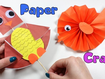 Paper Craft For Kids | Owl Head Turning Nursery Rhymes | Cute Paper Fish