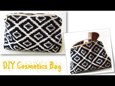 Sew an Easy Cosmetic bag ,Step by Step Sewing Tutorial