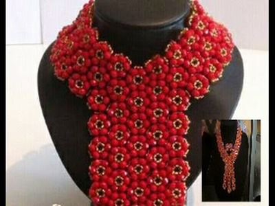 The toturial on how to make this elegant necklace bead