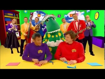 The Wiggles - Wiggle and Learn - Murray and Jeff are Making Origami We Folded Paper Whales