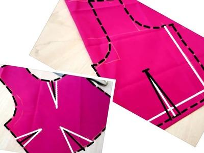 జాకెట్టు మార్కింగ్, కటింగ్ మరియు కుట్టుట | Perfect Blouse Marking , Cutting and Stitching | DIY -6 |