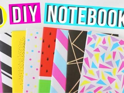 10 Easy DIY Notebooks For Back to school 2017! | Easy DIY School Supplies! | Ellen Kelley