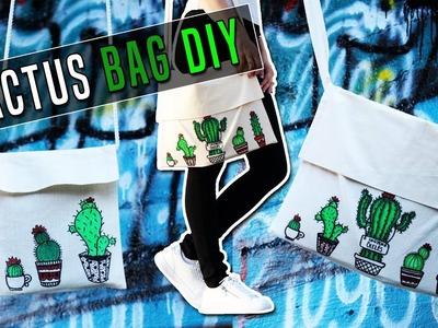 Back to school BAG DIY: Cactus tote bag. Vissza a suliba DIY: Kaktusz táska