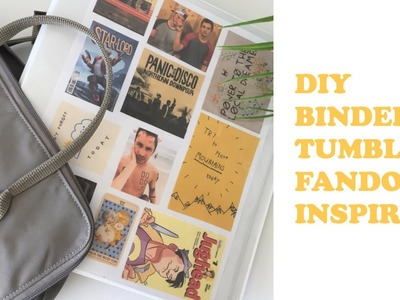 DIY Binder Tumblr.Fandom Inspired
