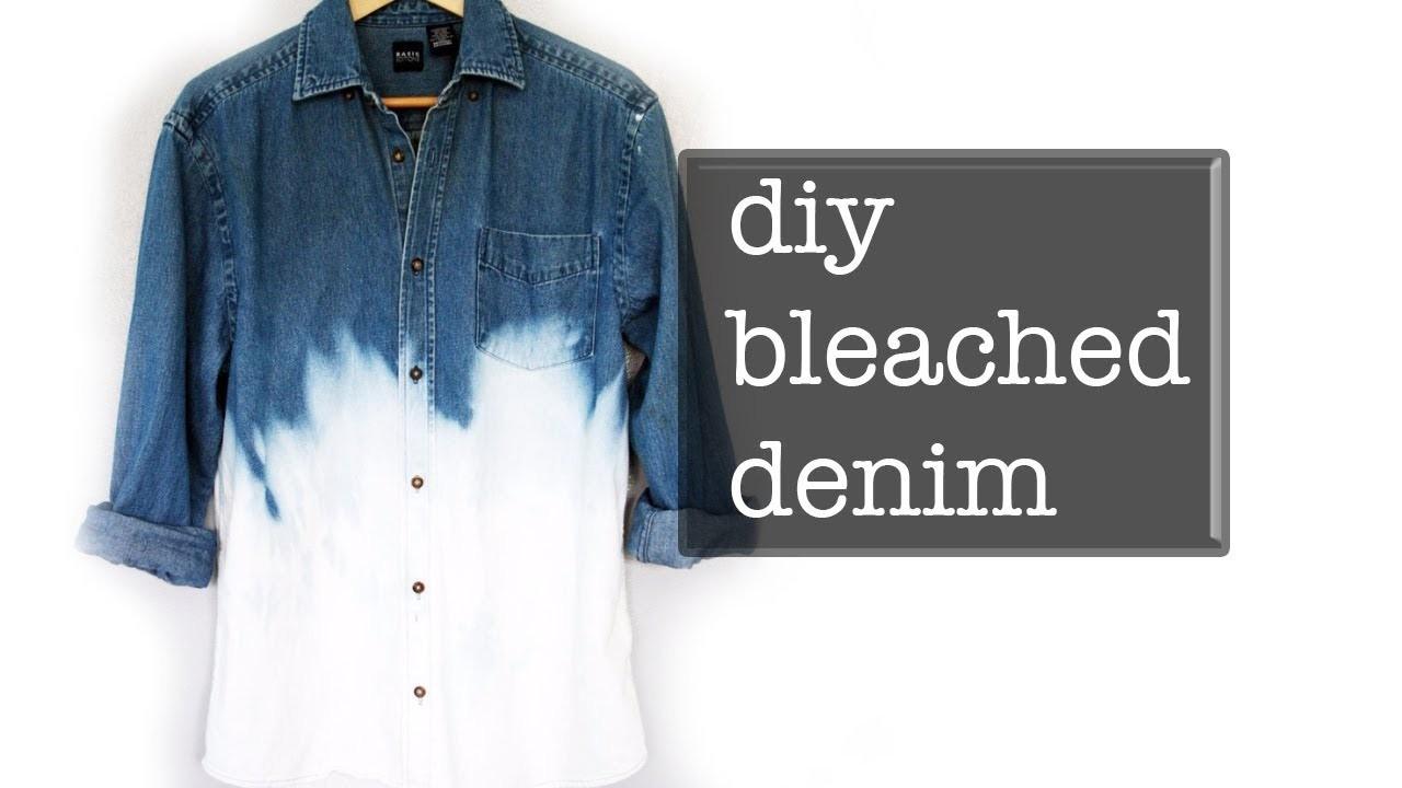 DIY BLEACHED  DENIM SHIRT | Men's Fashion Street Style ✂️