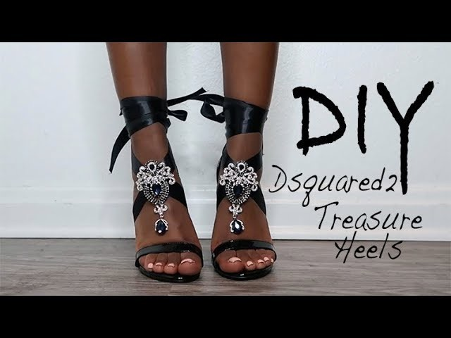 DIY: Dsquared2 Treasure Sandals: SUPER DUPER EASY and QUICK!