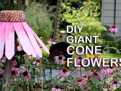 DIY Giant Garden Art Coneflowers YT