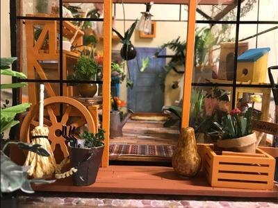 DIY Greenhouse Kit Robotime ~Watch Me Assemble~ Miniature Dollhouse Room NO MUSIC
