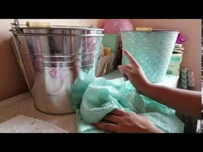 DIY | How To Decorate Buckets For An Ice Cream Bar | Ice Cream Birthday Party Theme Decor