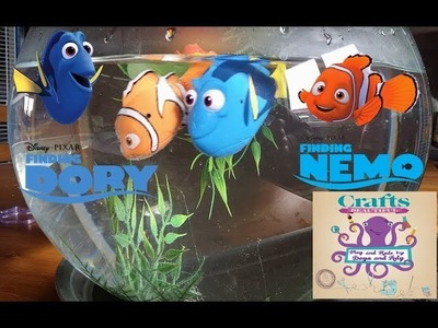 DIY: How to make aquarium for your kids with Robo Fishes Nemo And Dory TUTORIAL