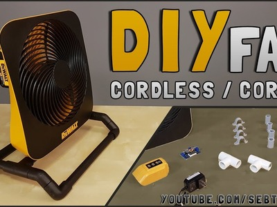 DIY : How to Make Cordless.Corded 12v.20v Portable Fan