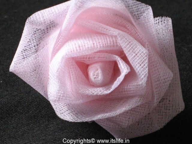 DIY. how to make organdy flowers