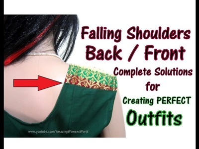DIY Ideas of How to fix the problem of falling Shoulders Back. Front