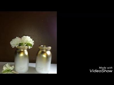 Diy ombre mason jar and flower pens